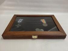 Cofanetto vetrinetta per collezionismo espositore vetrina display legno Bacheca
