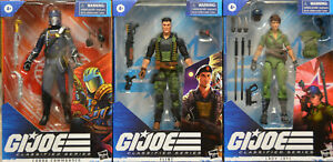 "Gi Joe 6"" Classified Wave 4 Set Lady Jaye Flint Cobra Commander IN Stock"