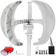300W 12V Lantern Vertical Axis Wind Turbine Generator 5 Blades w/Controller UK
