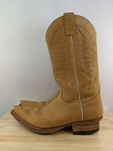 Sendra Cuervo Brown Nubuck Leather Cowboy Western Boots Sz 10.5