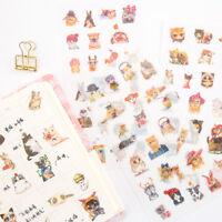 6pcs/pack Cute Cartoon Stickers Kawaii Stationery DIY Scrapbooking Cute Stickers