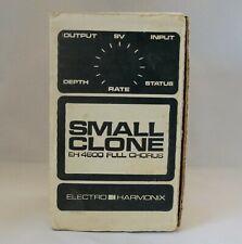 Vintage 1980s Electro Harmonix Small Clone Full Chorus FX Pedal EH4600 MN3007 IC