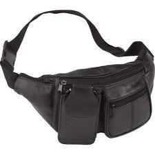Genuine Lambskin Belt Bag Leather Fanny Pack Waist Patch 6 Pocket