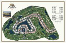 "PGA West Stadium Course 1986..A Pete Dye special"", a Vintage Golf Course Map"