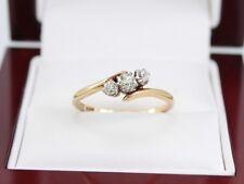 Diamond Trilogy Ring 18ct Gold Platinum Ladies Engagement Size Q O6