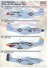 Print Scale Decals 1/72 U.S. AIR FORCE F-51 MUSTANG Units of the Korean War