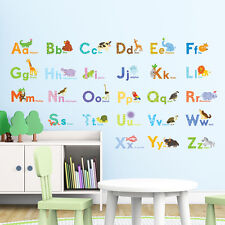 Sold out Decowall DAT-1608 Watercolor Animal Alphabet Wall Stickers Children