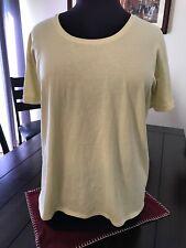PureJill Womens T Shirt Yellow Elbow Sleeve Scoop Neck Tee Size XL