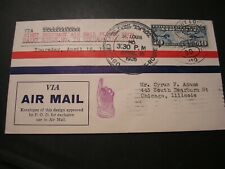 1926 Air Mail Cover First Flight St. Louis To Chicago