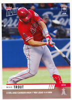 Mike Trout Los Angeles Angels 2 HR's Career Hi 7 RBI 6-19-19 2019 Topps NOW 401