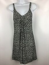 Gilligan & O'Malley Baby Doll Chemise Soft Nightgown Animal Print Size Small S