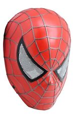 Full Face Wire Mesh Protection CS Paintball Red Spider Man Mask Prop Cosplay 731