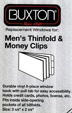 """New Plastic Wallet Inserts 3-5/8"""" x 2-5/8"""" Mens Thinfold & Money Clips Pack of 3"""