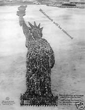 Photograph 1918 Living Portrait Statue of Liberty  Mole & Thomas Camp Dodge 8x10