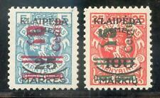 MEMEL 1923  230,231 * JE MARKANTE ABART(E7550b