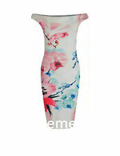 Boat Neck Party Floral Dresses for Women