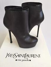 NIB YSL Yves Saint Laurent Tribtoo 105 Degrade Grey Ankle Boot Booties US 5.5