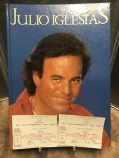 Julio Iglesias Book And 1989 Concert Tickets Vintage Collectible