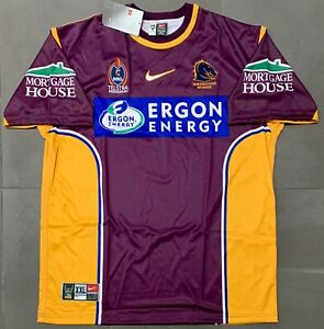 Authentic Vintage Nike Brisbane Broncos NRL 2004 Home Jersey. BNWT, Size XXL.