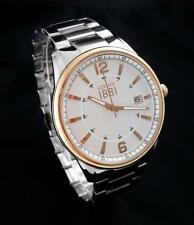 CERRUTI 1881 Herren Uhr Edelstahl silber rosé CRA103STR04MS Datum 45mm > > NEU