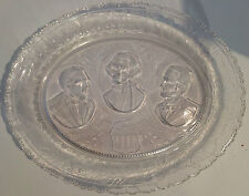 """Antique EAPG Bread Plate, """"In Remembrance"""", U.S. Presidents, c. 1881"""