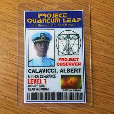 Quantum Leap Id Badge-Project Observer Albert Calavicci Cosplay costume