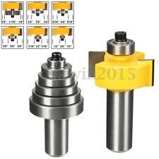 """1/2"""" Shank Rabbet Router Bit with 6 Bearings Set - 1/2"""" Cutting For Solid Wood"""