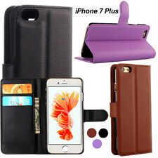 "iPhone 7 Plus 5.5"" Premium Pu Leather Stand Flip Walet Case Cover Skin Protector"