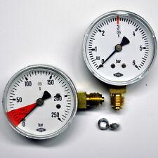 Co2 Schankanlagen Ersatz Manometer Set Ø63mm Stahlgehäuse 0-6bar &  0-315bar