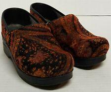 Dansko Professional Vegan Fabric Floral Cloth Clogs Shoes Women's Size 38