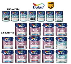 Dulux Once Matt / Gloss Paint 2.5L / 750ML Perfect Finish One Coat All Colours
