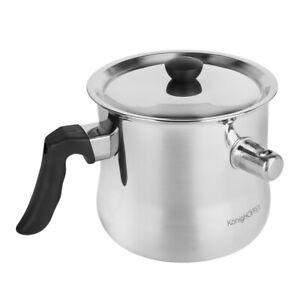 Milk pot Non stick milk saucepan Milk pan Saucepan Induction with lid 1.5L