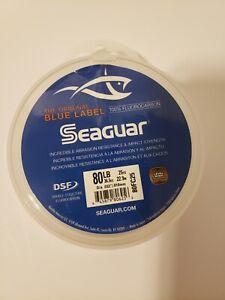 Seaguar Blue Label 100% Fluorocarbon Leader 80lb 25yd .032 Dia Clear 80FC25