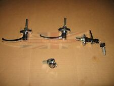 New 5 Piece Door Trunk and Ignition Lock Set  Uses One Key Triumph TR3 TR3A TR3B