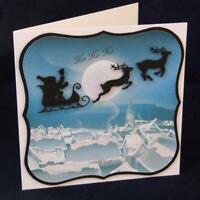 Santa Claus Reisen Metall Stencil Cutting Dies Scrapbooking Stanzschablone Karte
