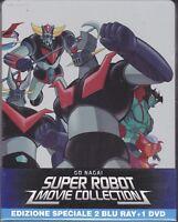 2 Blu-ray+ 1Dvd SteelBook GO NAGAI SUPER ROBOT MOVIE COLLECTION MAZINGA GOLDRAKE