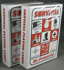 Survival Playing Cards 2 Decks Bug Out Bag Supplies Prepping Prepper Shtf Gear