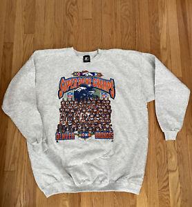 Denver Broncos NOS Starter Sweatshirt USA Made XL 1998 Superbowl Champions New