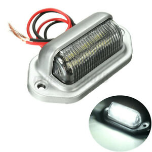 6 LED License Plate Tag Light Boat RV Truck Interior RV Lamp Step Bulbs 12V DC