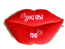 "Big Red Plush Pillow 47x26cm Lips Shape Romantic Love Valentine ""You and Me"""