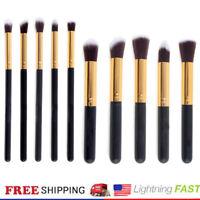 Kaizm Pencil 10pcs/set Pro Kabuki Make up Brushes Cosmetic Foundation Blending@k