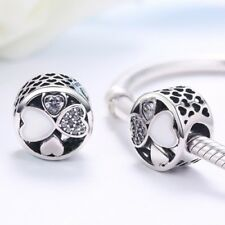 Beautiful S925 Sterling Silver Hearts Of Love Charm