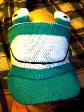 Cute Frog face knit ear warmer - muff - head wrap - hat style headband with bill