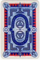 Playing Cards 1 Single Card Old TOYE MASONIC SYMBOLS Freemasons Advertising Art