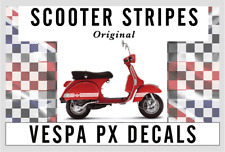 X1 Adidas logotipo estilo DECAL set VESPA PX Sticker Set Varios Colores Mod tg22