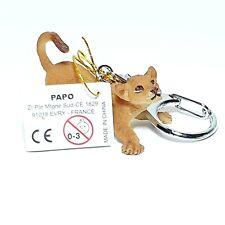 Neuf - PAPO - Porte-clés Lionceau Lion Tigre Pvc figurine Animaux no Schleich
