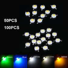 50 100pcs DIY SMD 3 Watts LED COB Chip Beads White Red Blue Yellow Diodes Chip