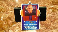 RARE VINTAGE 1992 STAR TREK - JEAN-LUC PICARD CERAMIC PLAQUE CARD