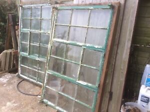 crittall windows x3 size 149x92cm with all glass intact, collection only