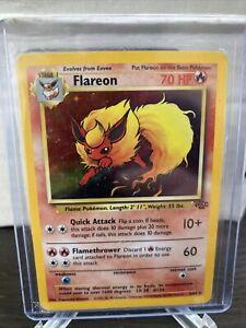 FLAREON - Jungle Set  #3/64 - HOLO Rare Pokemon Card LP